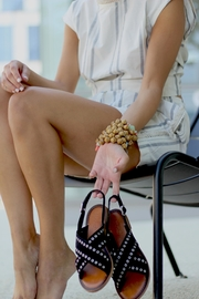 Inuovo Black Suede Sandals - Product Mini Image