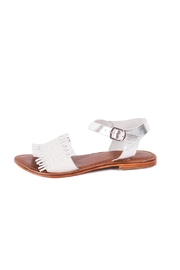 Inuovo Flat White Sandal - Front full body