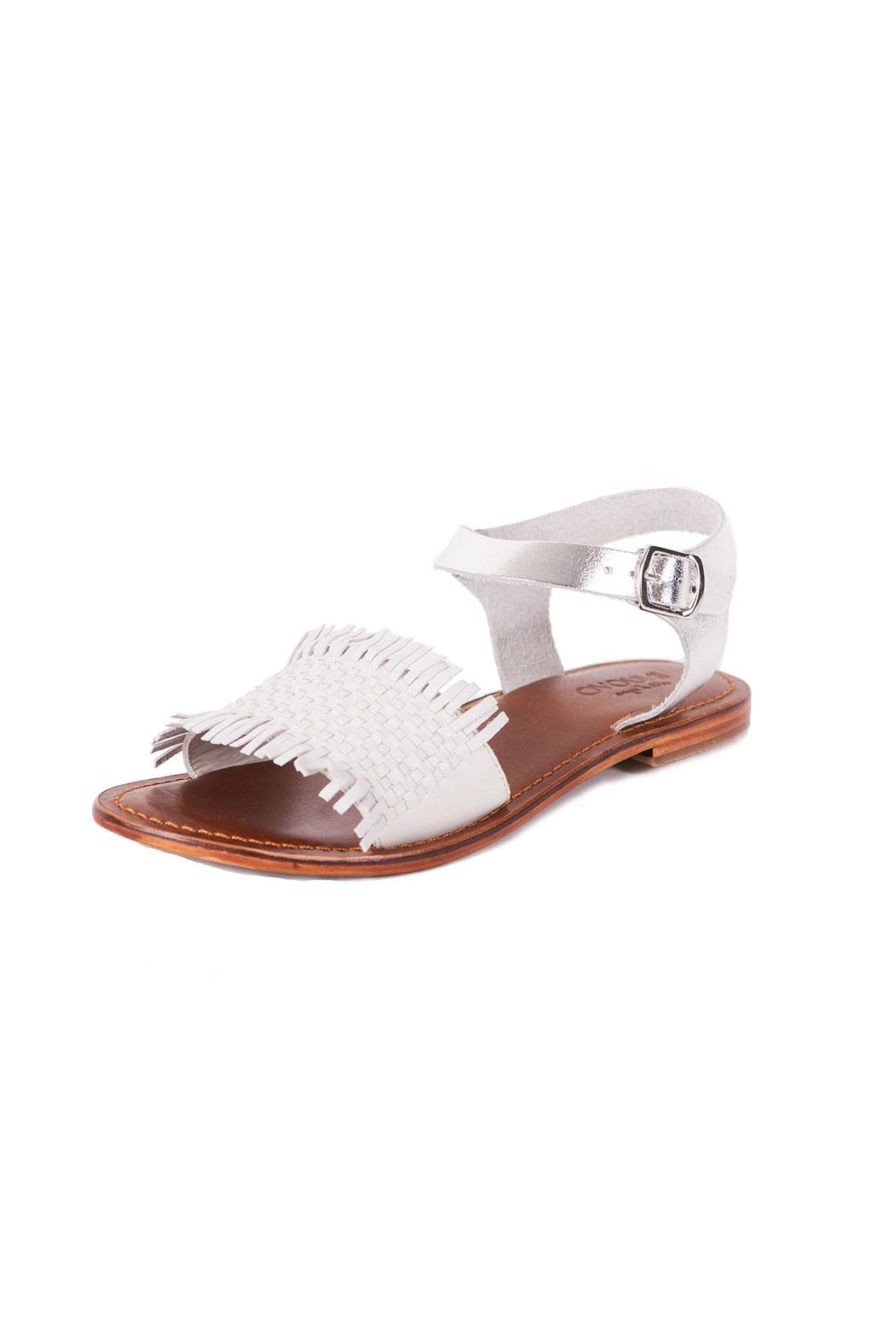 Inuovo Flat White Sandal - Front Cropped Image