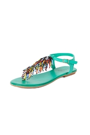Inuovo Turquoise Leather Sandals - Product Mini Image