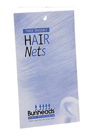 Bunheads Invisible Hair Nets 3 Pack - Front full body