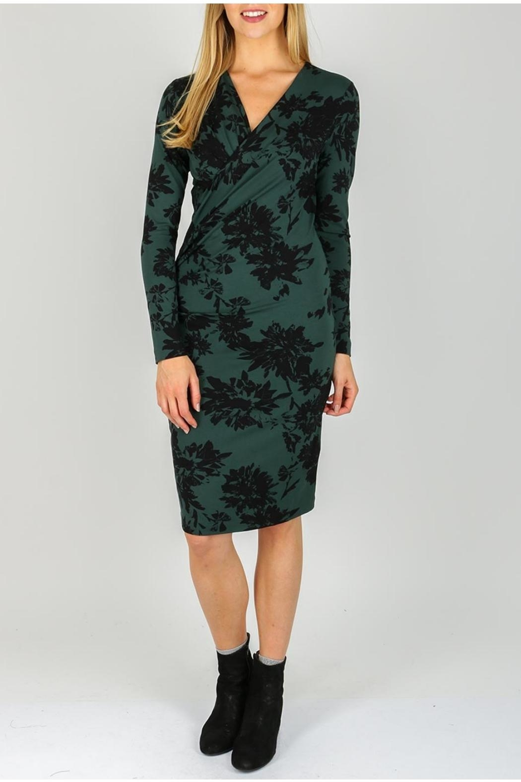 Inwear Green Wrap Dress - Front Cropped Image