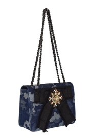 INZI Blue Camo Crossbody - Front full body