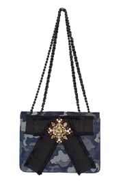 INZI Blue Camo Crossbody - Front cropped