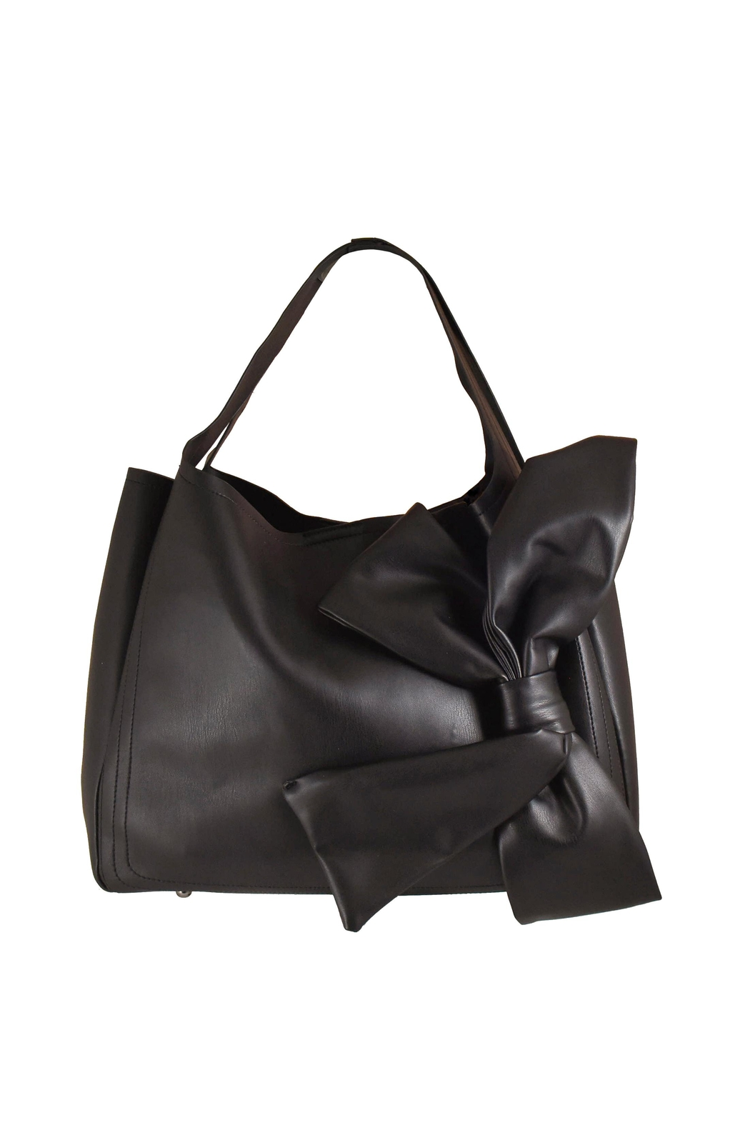 INZI Bow Shoulder Bag - Front Cropped Image