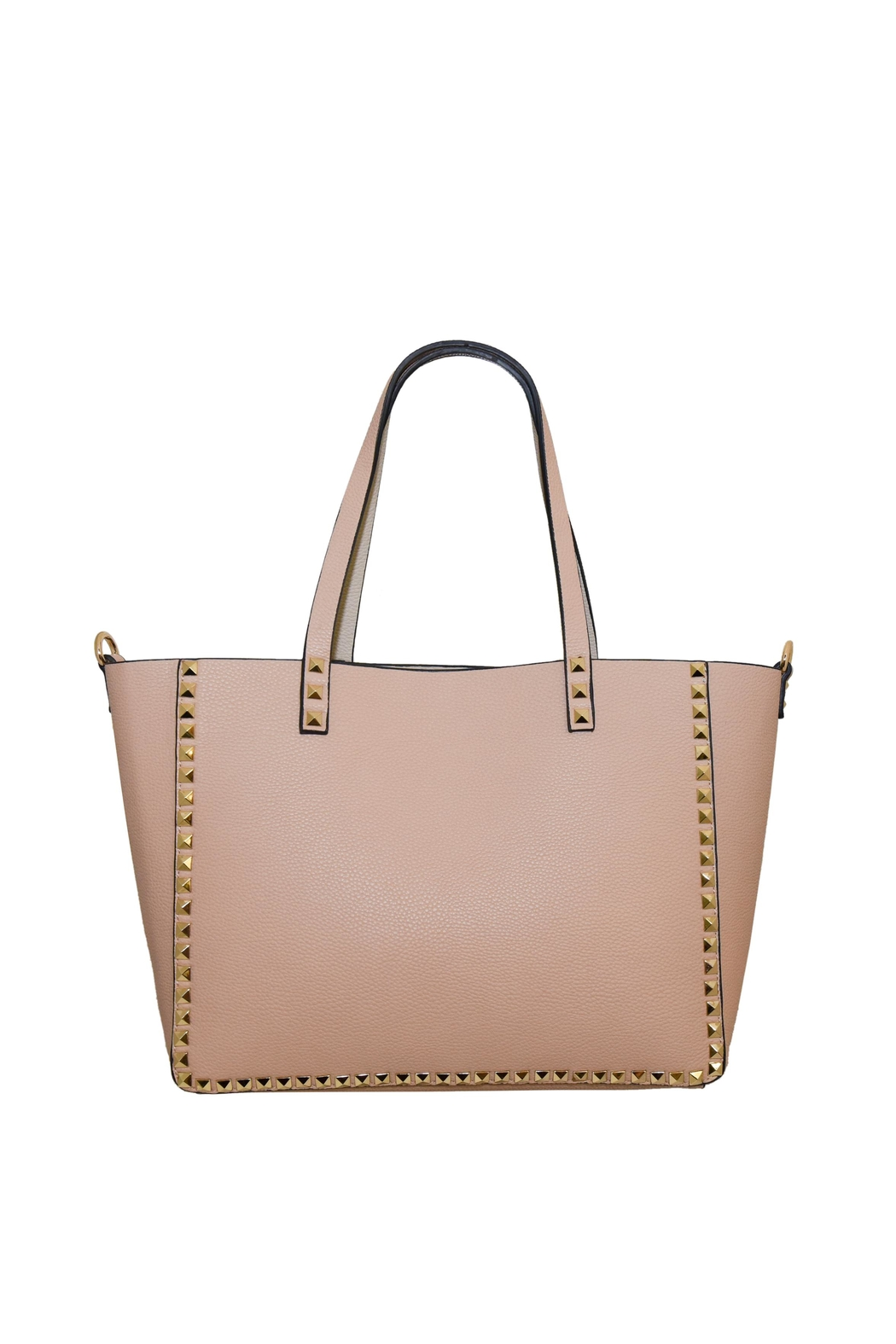 INZI Reversible Studded Tote - Front Cropped Image