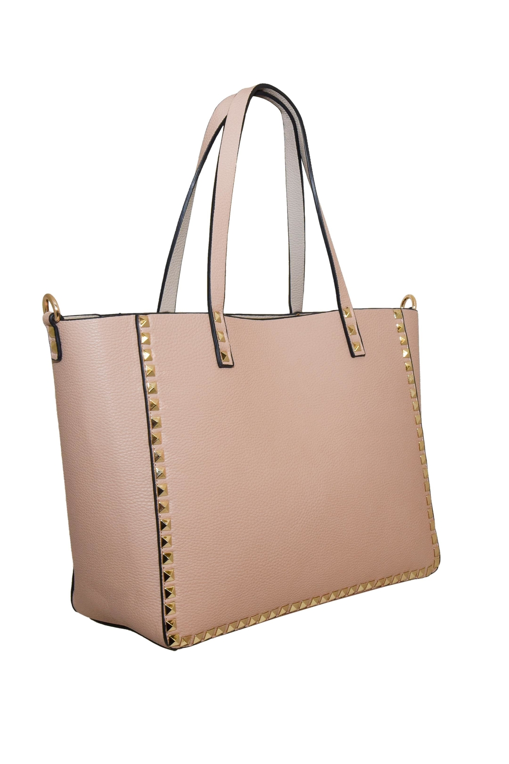 INZI Reversible Studded Tote - Front Full Image