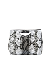 INZI Large Python Clutch - Front cropped