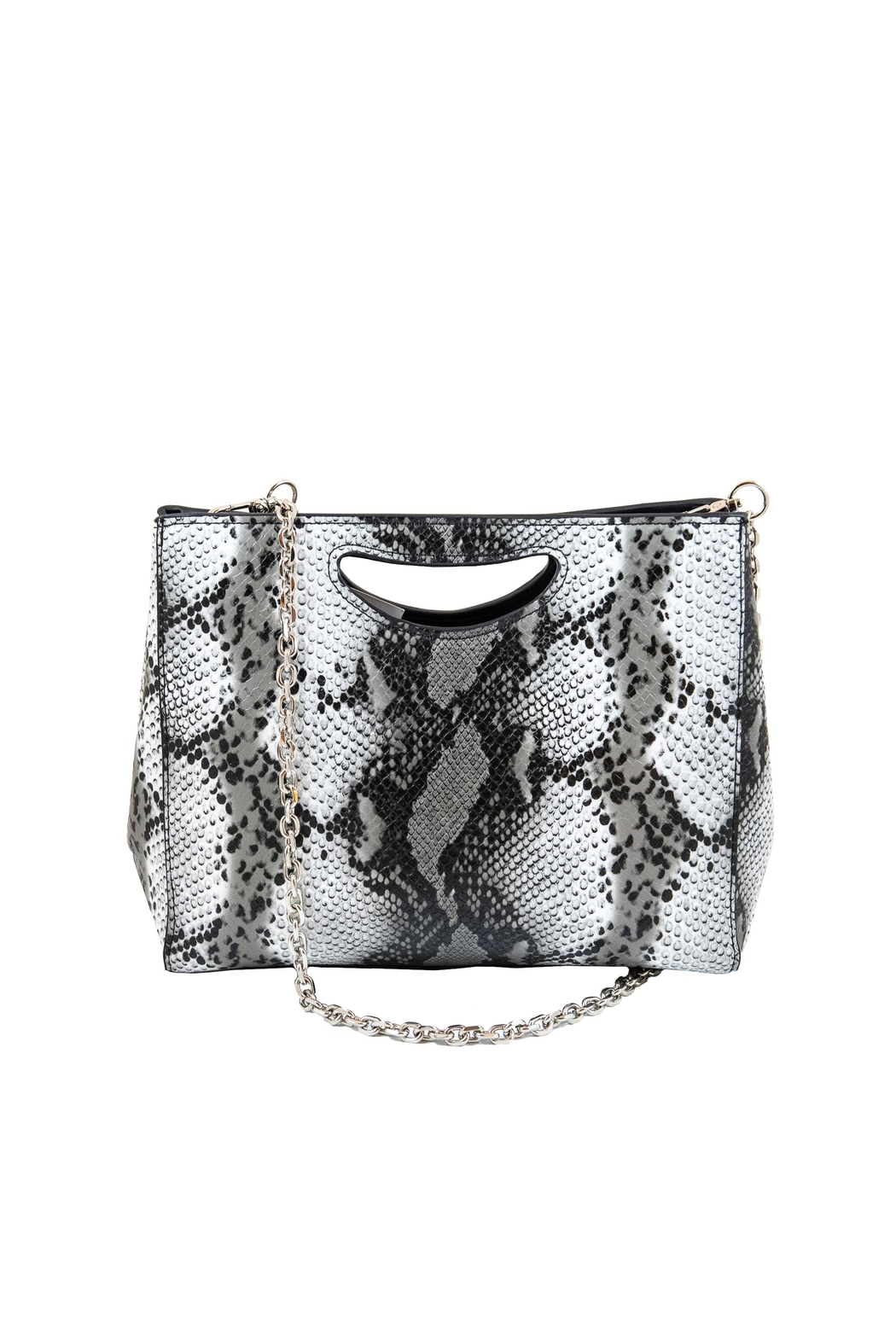 INZI Large Python Clutch - Front Full Image
