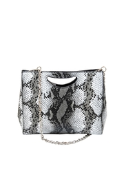 INZI Large Python Clutch - Front full body