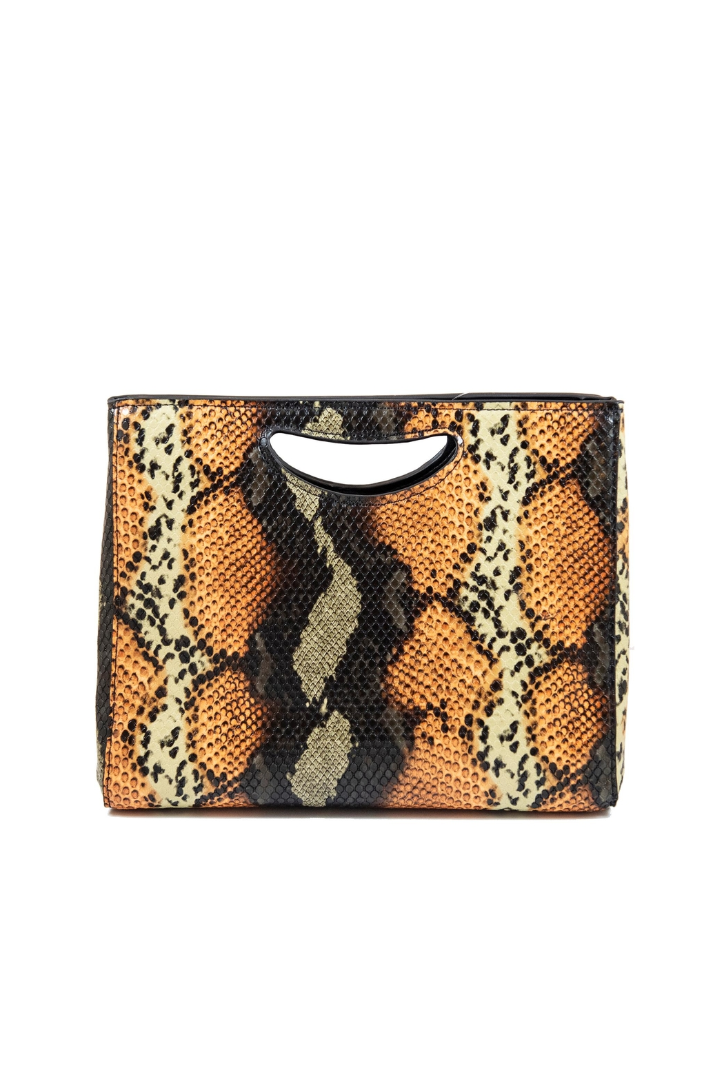 INZI Large Python Clutch - Front Cropped Image