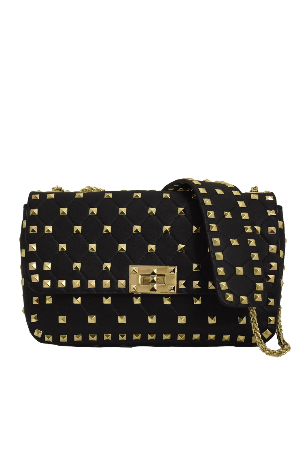 INZI Quilted Stud Crossbody - Main Image