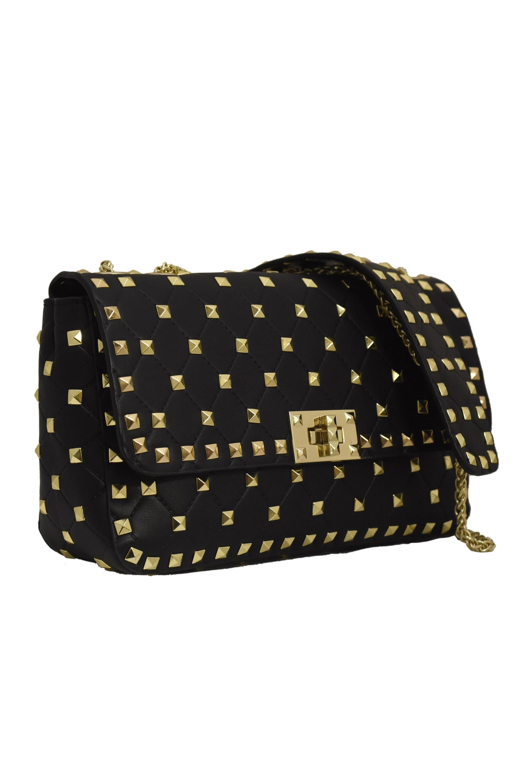 INZI Quilted Stud Crossbody - Front Full Image