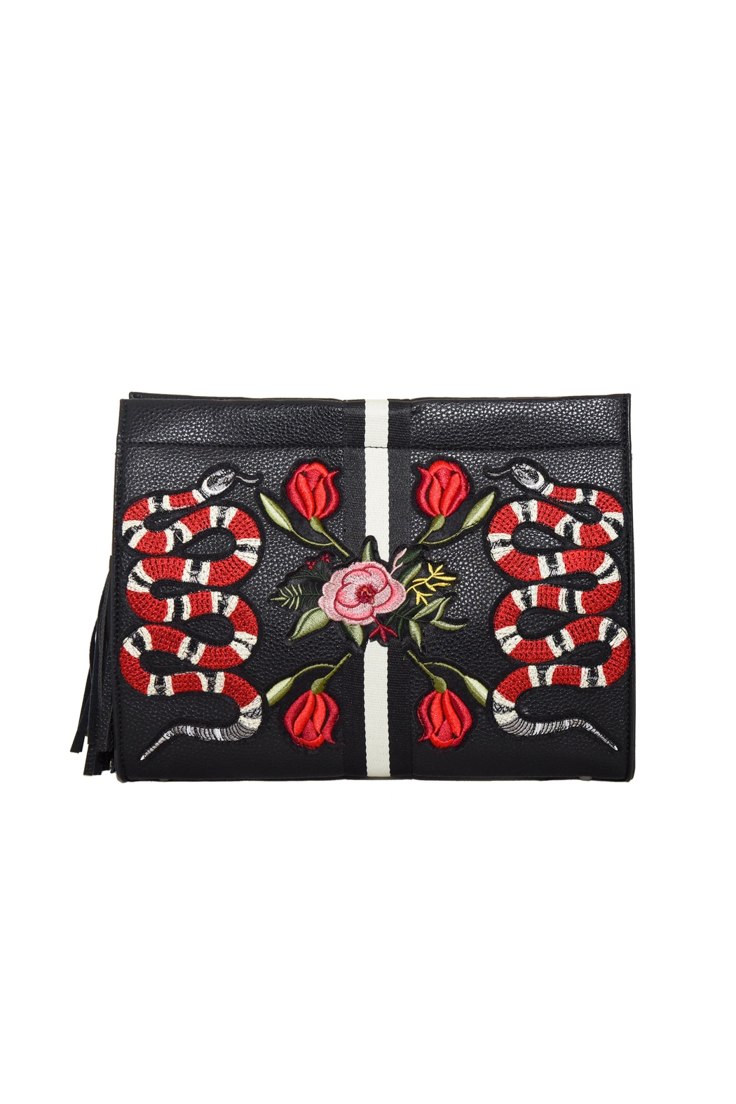 INZI Snakes N Roses Clutch - Front Cropped Image