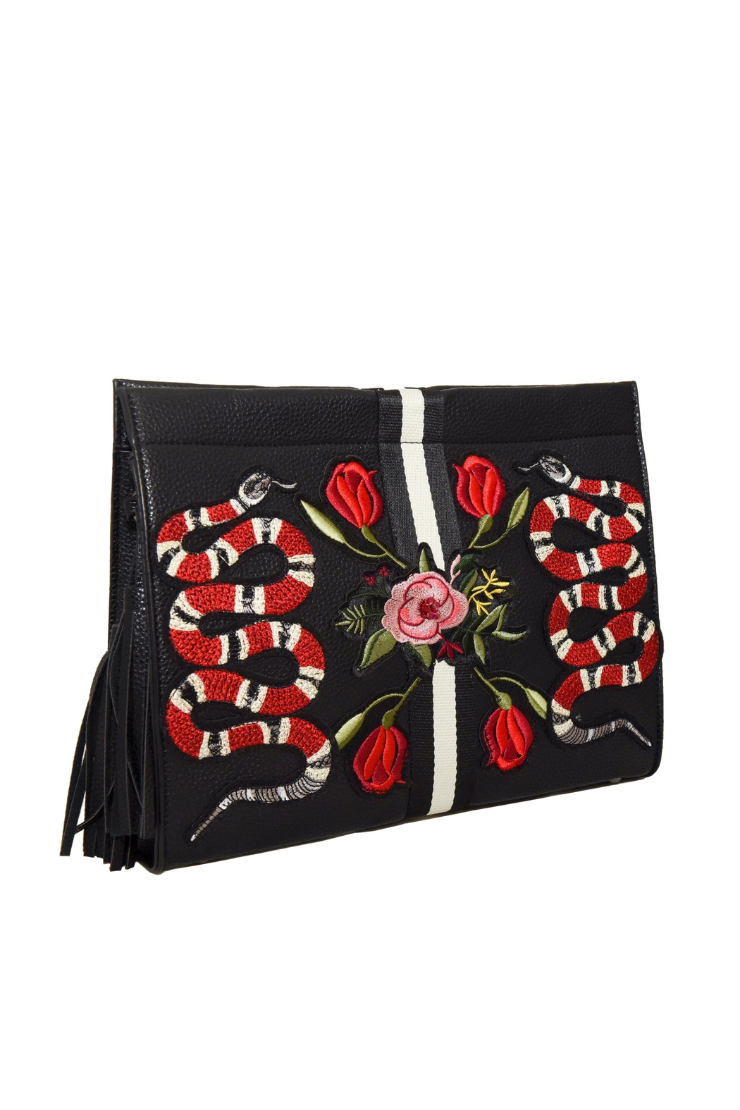 INZI Snakes N Roses Clutch - Side Cropped Image