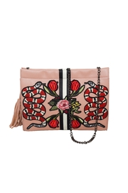 INZI Snakes N Roses Clutch - Front full body
