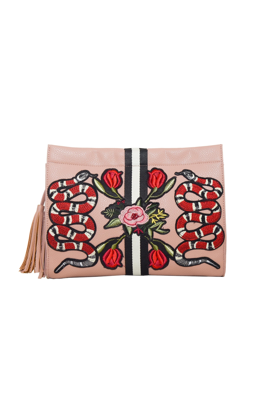 INZI Snakes N Roses Clutch - Main Image