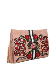 INZI Snakes N Roses Clutch - Side cropped