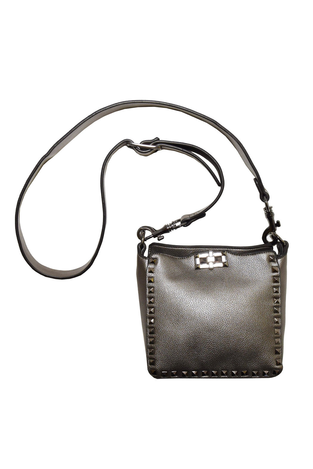 INZI Studded Crossbody - Front Cropped Image
