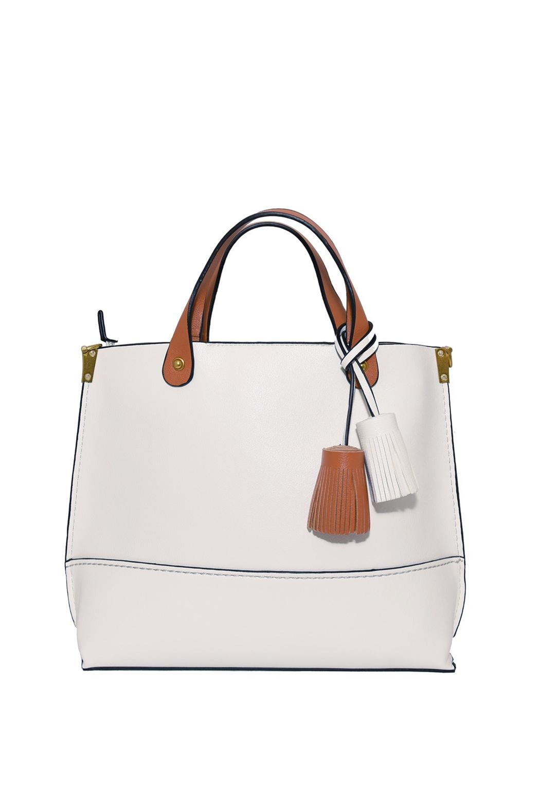 INZI Tasseled Tote - Front Cropped Image