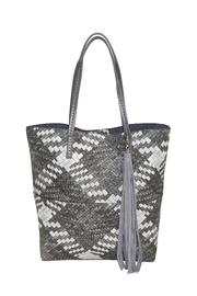 INZI Woven Multi-Tone Tote - Front cropped