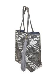 INZI Woven Multi-Tone Tote - Side cropped
