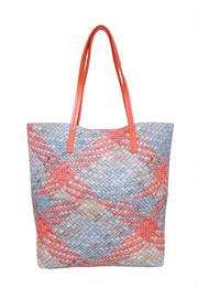 INZI Woven Multi-Tone Tote - Front full body