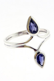 Crystal Earth Iolite Ring Size 7 - Product Mini Image