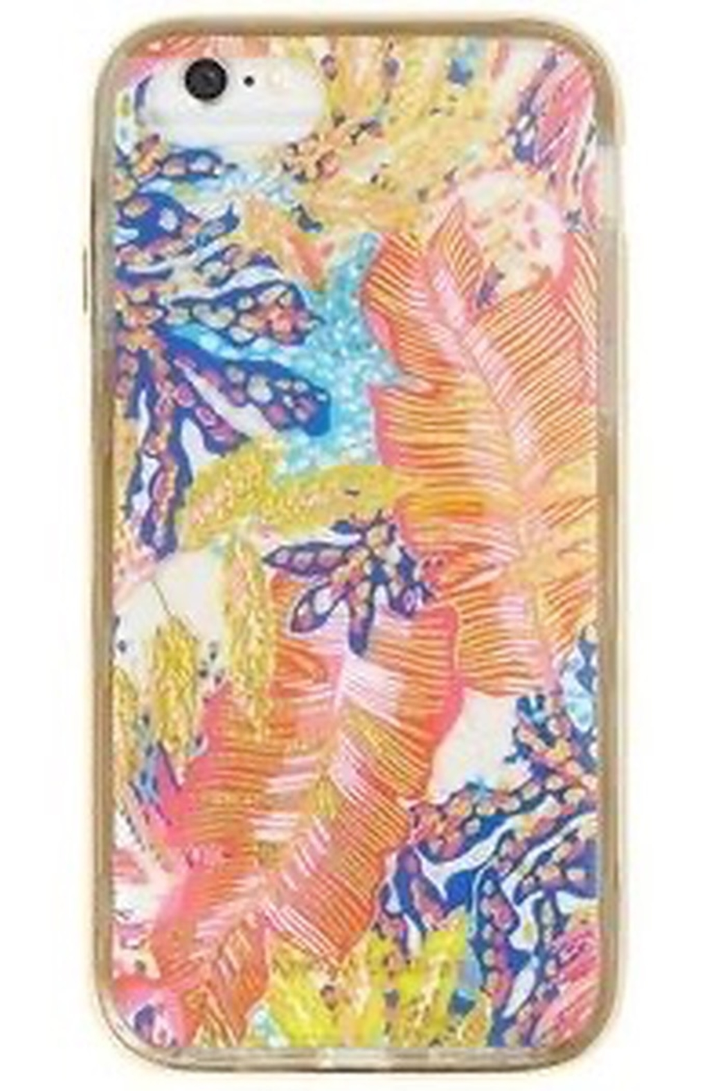Lilly Pulitzer  iPhone 7 Classic Cover OH SHELLO/SHELL SEARCH/OFF THE GRID - Front Cropped Image