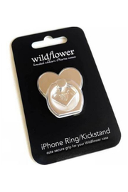 Wildflower Cases iPhone Ring Stand/Holder Silver Heart - Product Mini Image