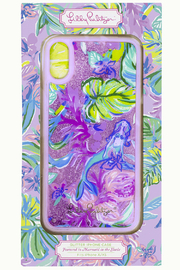 Lilly Pulitzer  iPhone X/XS & XR Glitter Case MERMAID IN THE SHADE - Front cropped