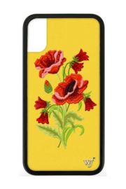 wildflower iPhone Xs/X Case - Front cropped