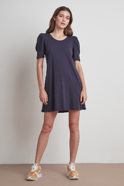 Velvet by Graham & Spencer  Ira Puff Sleeve Dress - Ink - Product Mini Image