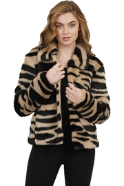 love token Ireland Faux Fur Animal Print Jacket - Product Mini Image