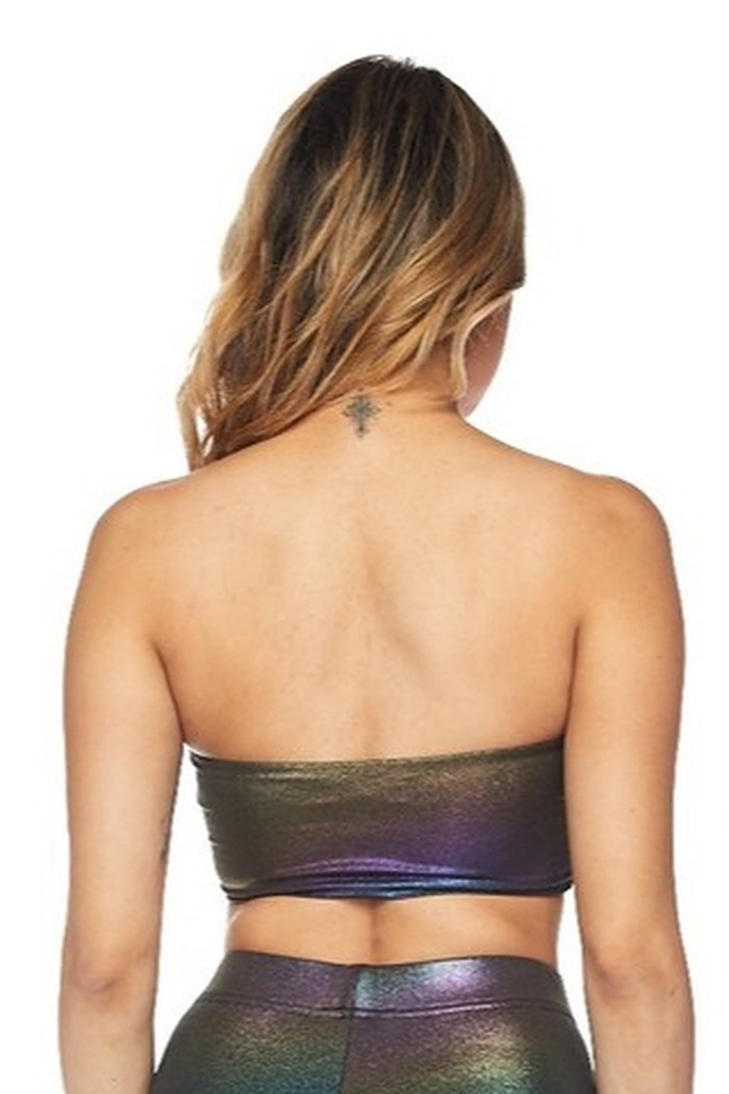 hot and delicious Iridescent Bandeau Bra - Front Full Image