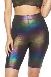 hot and delicious Iridescent Biker Short - Product Mini Image