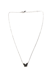 Lets Accessorize Iridescent-Black Butterfly Necklace - Product Mini Image