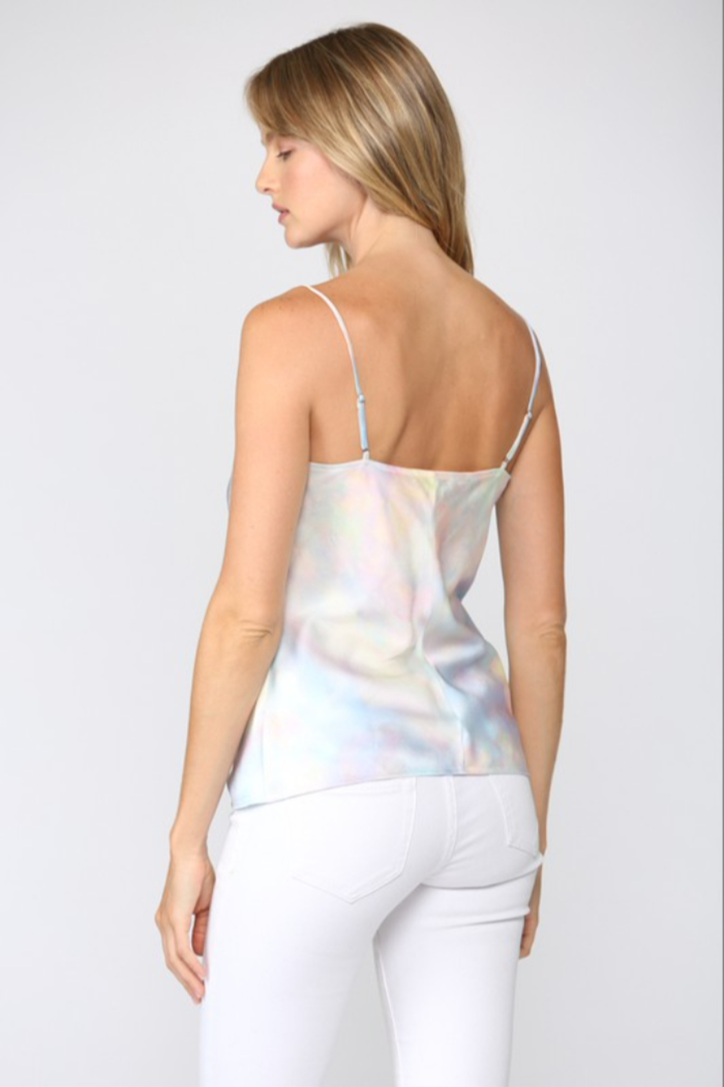 Fate Iridescent Cowl Neck Cami - Side Cropped Image