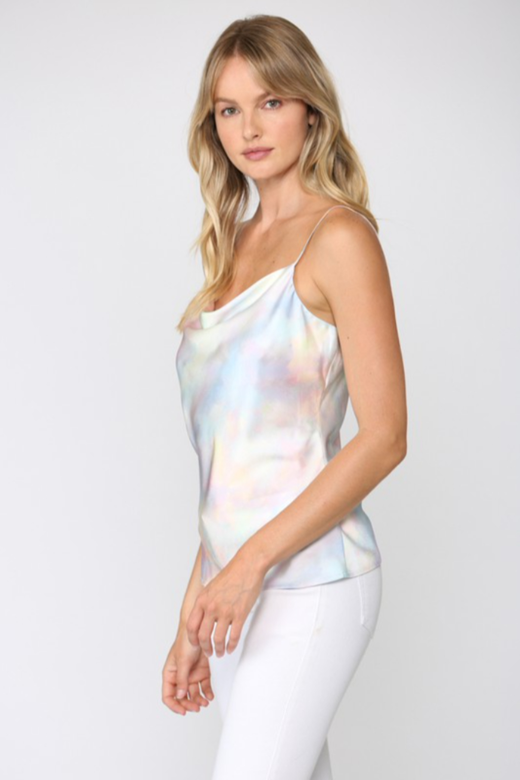 Fate Iridescent Cowl Neck Cami - Front Full Image