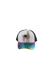 Bari Lynn Iridescent Crystal Emoji Trucker Hat - Product Mini Image
