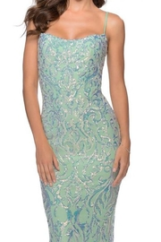 La femme Iridescent Floral Gown - Side cropped
