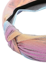 Fame Accessories Iridescent Knot Headband - Front full body