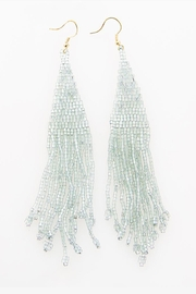 Ink + Alloy Iridescent Long Fringe Beaded Earring - Front cropped