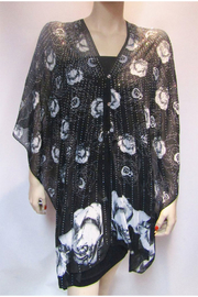 Kristen's Iridescent Rhinestone Silky Sheer Button Poncho - Product Mini Image