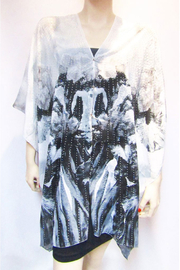Kristen's Kloset Rhinestone Accented Sheer Abstract Poncho - Product Mini Image