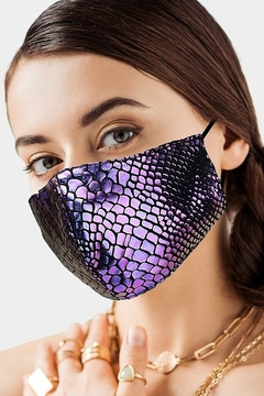 Wona Trading Iridescent Snake Face Mask - Product List Image