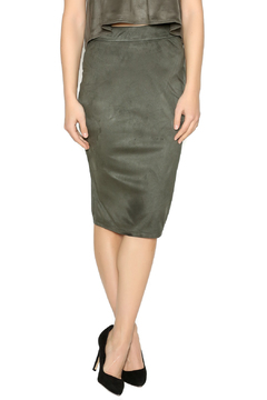 iris Faux Suede Olive Skirt - Product List Image