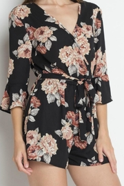 iris Floral Romper - Front cropped
