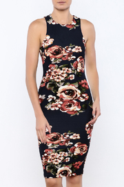 iris Navy Floral Bodycon Dress - Product Mini Image