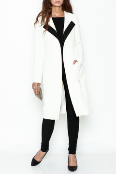 Shoptiques Product: Belted Long Jacket
